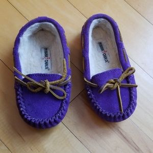 5/$20 Minnetonka Purple Moccasins